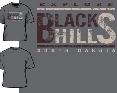 Black Hills Tee - Old Poster Grey - S
