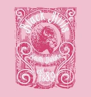 Black Hills Tee- Hickory Lt Pink - S