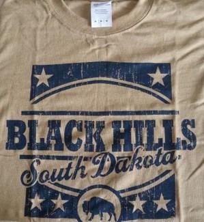 Black Hills Tee- Tan Vista - S