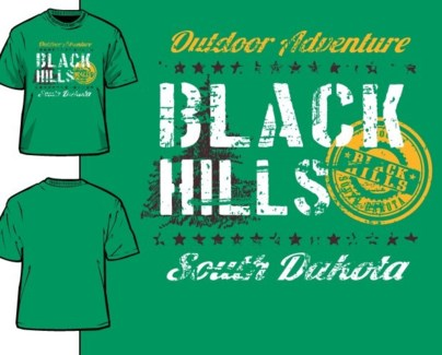 Black Hills Tee- Irish Green Stunt- S