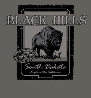 Black Hills Tee- Rugged Grey- S