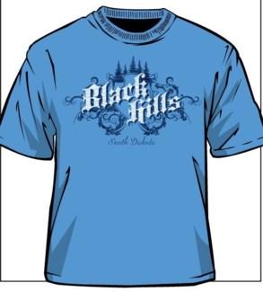 Black Hills Tee- Carolina Blue Kingdom- S