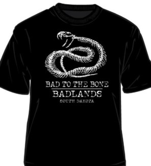 Badlands Tee- Black Rattlebones- S