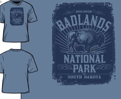 Badlands Tee- Distinct Navy- S