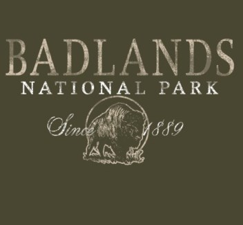Badlands Tee- Badlands National Park Green- S
