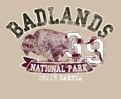 Badlands Tee- Campus Sand- S