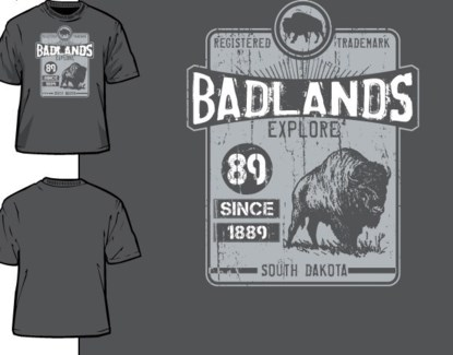 Badlands Tee- Caution Grey- S