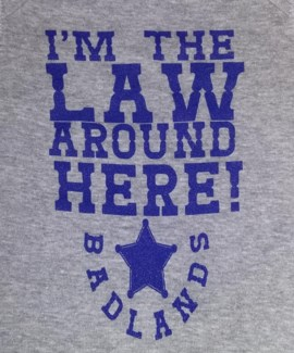 BL Onesies The Law- Blue 6mo