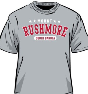 Mt Rushmore Tee- Sport Grey Arched Tex- S