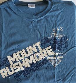 Mt Rushmore Tee- Blue Fling - S