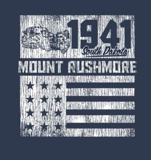 Mt Rushmore Tee- Pride Navy - S