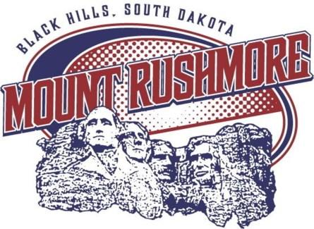 Mt Rushmore Tee- White Full Crest - S