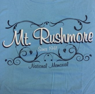 Mt Rushmore Tee- 1941 National Memorial Blue- S