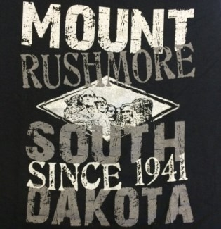 Mt Rushmore Tee- Black Crafted - S