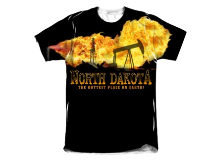 ND Flames Sublimated Tee M