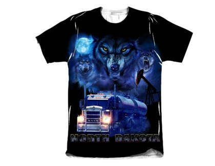 ND Blue Wolf Sublimated Tee M