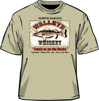 ND Walleye Whiskey Sand Tee M