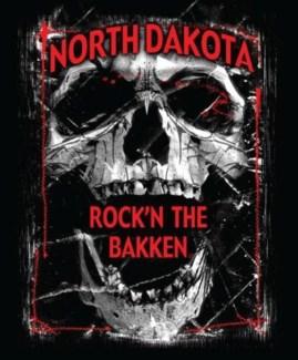 ND Bakken Oil Field Shatter Skull Tee XXXL