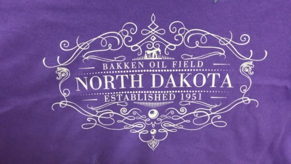 ND Bakken Oil Field Established Purple Tee S
