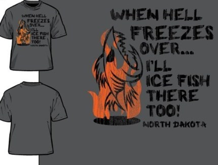 ND Hell Freezes Grey Tee L