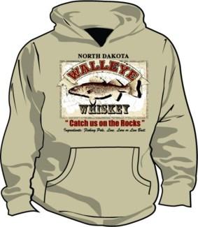 ND Walleye Whiskey Sand Hoody L