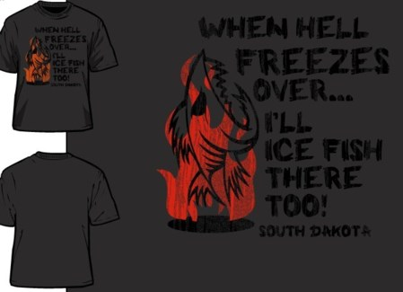 SD Hell Freezes Grey Tee M