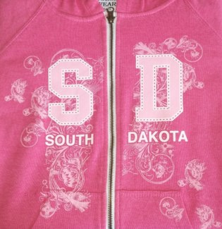 SD Full Zip Pink Hoody S