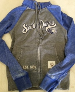 SD Grey/Blue Zip Up Hoody M