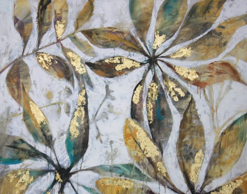 Autumns Grace W/Gold Leaf GALLERY WRAP