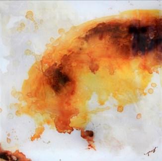 Hana Orange - Reverse Painted Lucite