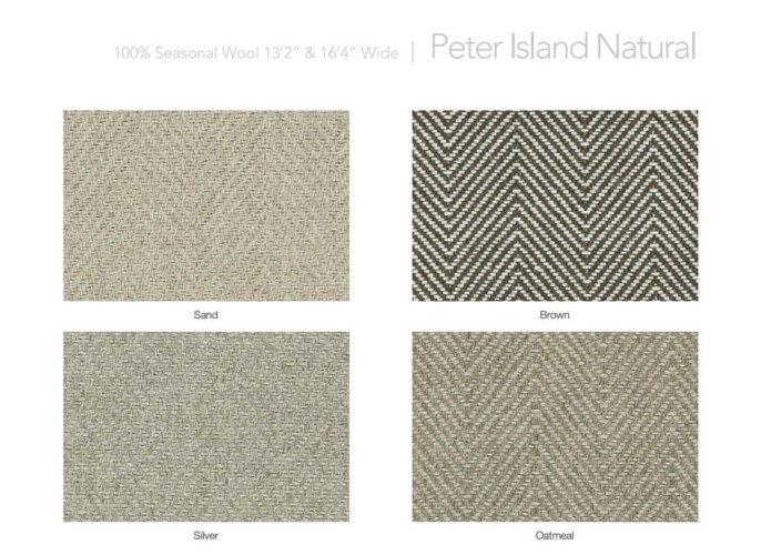"Peter Island Natural 13.5"" x 18"" Set"
