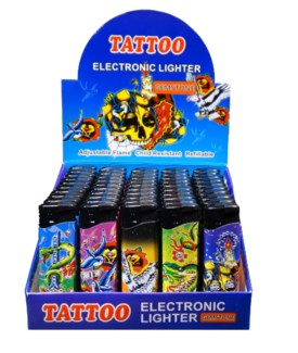 Tattoo Electronic Lighter - Gemstone