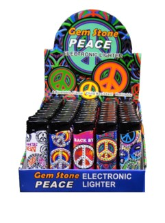 Electronic Lighter - Gem Stone Peace