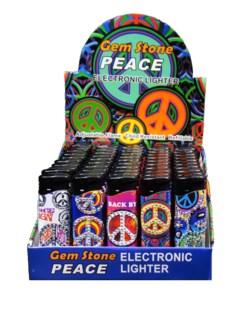 Electronic Lighter - Gem Stone Peace