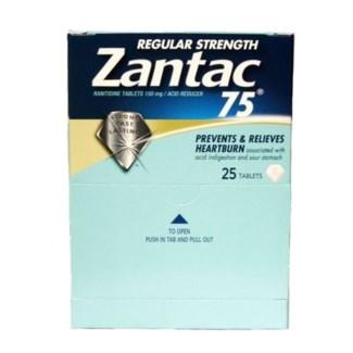 Box Zantac 75 (25 pouches per box)