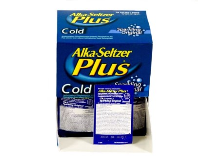 Box Alka Seltzer Plus (25 pouches per box)