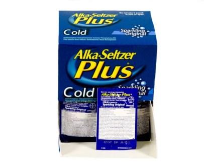 Box Alka Seltzer Plus (25 pouches per box)