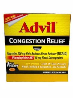 Box Advil Congestion (50 pouches per box)