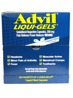 Box Advil Gel Cap (50 pouches per box)