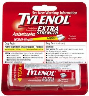 Tylenol ES Vial (12 vials per box)