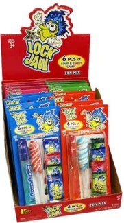 Lock Jaw Sweet & Sour Candy (16 Pc. Display)