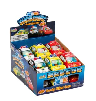 Rescue Candy Filled Cars (12 Pc. Display)