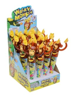 Wacky Monkey Candy Filled Toy (12 Pc. Display)
