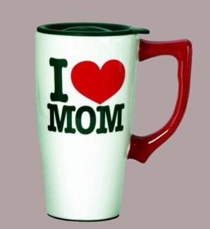 I Love Mom Travel Mug