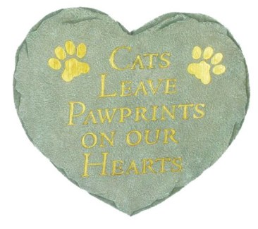 Cats Leave Pawprints Stepping Stone