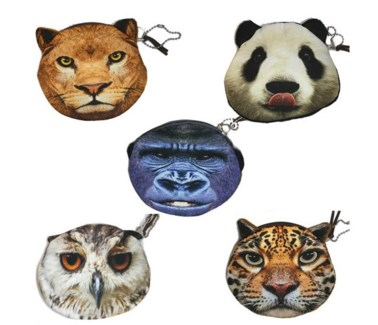 Realistic Animal Coin Purse (12 Pack Assorted)