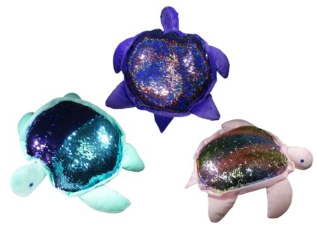 Color Changing Sequins Plush Dolphin