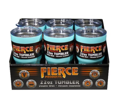 22 oz. Tumbler - Teal (6 Pc. Display)