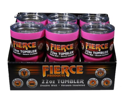 22 oz. Tumbler - Pink (6 Pc. Display)