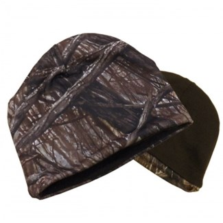 Camo & Brown Reversible Beanie